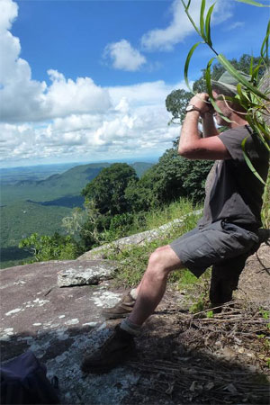 Bird watching on Mangochi Mountain